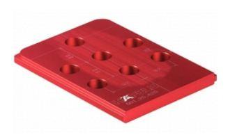 Plantilla móvil Red Jig para sistema 32 a 37/60 mm.