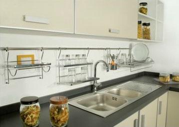 Ca o redondo cromado de 900 mm herrajes san mart n for Accesorios cromados para cocina