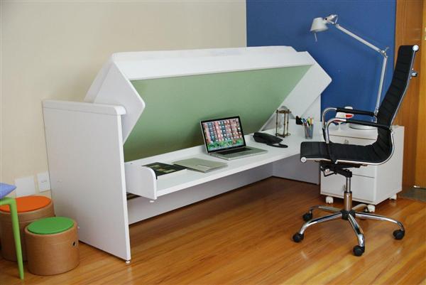 Sistema para cama abatible horizontal de una plaza for Cama de una plaza precio