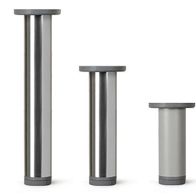 Pata redonda regulable de aluminio de 100 - 150 - 200 mm ...