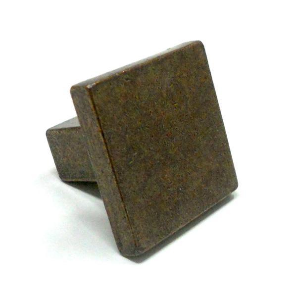 Tirador cuadrado para mueble 30 x 30 mm en cuero viejo - Tiradores para muebles antiguos ...