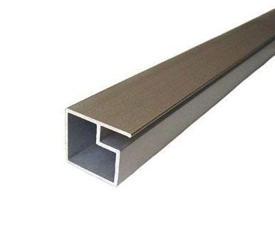 Tira de perfil de aluminio a 320 precio por metro for Perfiles aluminio para muebles