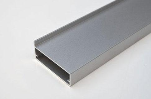 Tira de perfil de aluminio a 410 precio por metro for Perfiles aluminio para muebles
