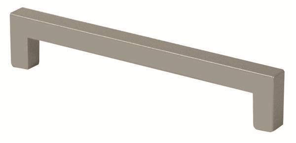 Manija recta de 96 mm de largo de acero inoxidable para mueble