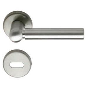Manija simple de aluminio imola satinada herrajes san mart n for Manijas para puertas de vidrio