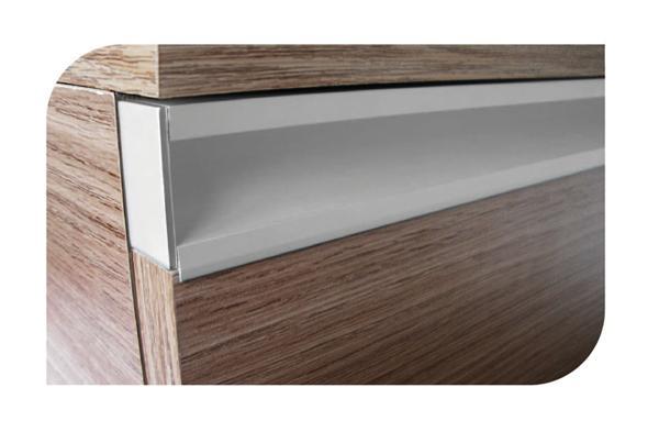 Perfil de aluminio para frente de caj n pm10 tira de 3 for Herrajes para toldos de aluminio