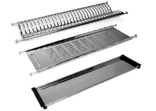 Escurreplatos de acero inox. para alacena de 600 mm. de largo ... bc3ba752130e