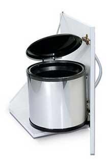 Cesto de basura extra ble de acero de 13 litros herrajes - Cubo basura extraible ...