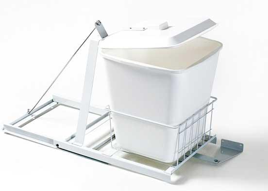 Cesto de basura extra ble chico de pl stico blanco for Ubicacion de la cocina