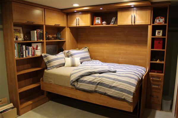 Sistema para cama abatible horizontal de dos plazas tavoletto con escritorio herrajes san mart n - Escritorio abatible pared ...