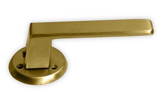 Manija simple bicelada para puerta herrajes san mart n for Manijas para puertas de vidrio