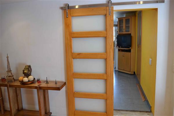 Sistema deslizante granero cromado brillante para puertas for Sistema para puertas corredizas