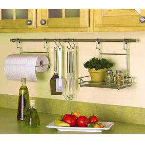 Ca o redondo cromado de 900 mm herrajes san mart n for Colgar utensilios de cocina