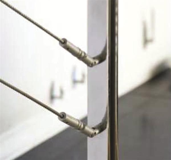 Kit tensor para baranda de escalera herrajes san mart n - Accesorios de acero inoxidable para barandillas ...