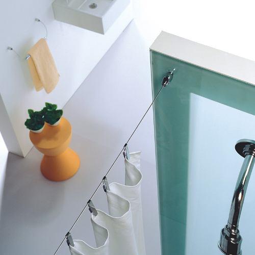 Kit tensor oslo para cortina de ba o herrajes san mart n - Sistemas para colgar cortinas ...