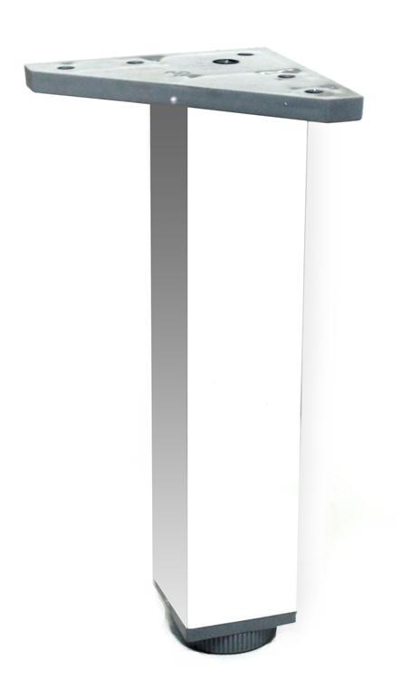 Pata cuadrada regulable de aluminio de 400 mm herrajes - Patas para escritorio ...